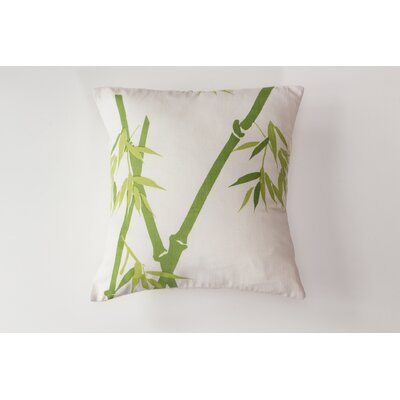 Bamboo on Alabaster Cotton Throw Pillow Size: Large
