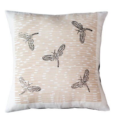 Dragonflies Cotton Throw Pillow Size: 16 H x 16 W