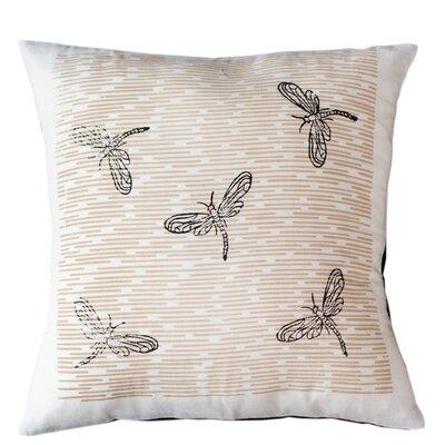 Dragonflies Cotton Throw Pillow Size: 16 H x 16 W