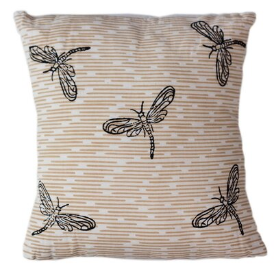 Dragonflies Cotton Throw Pillow Size: 12 H x 12 W
