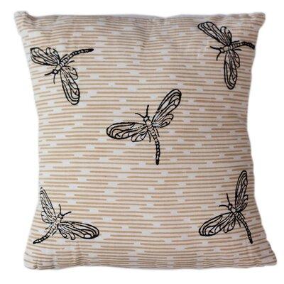 Dragonflies Cotton Throw Pillow Size: 12 H x 12 W