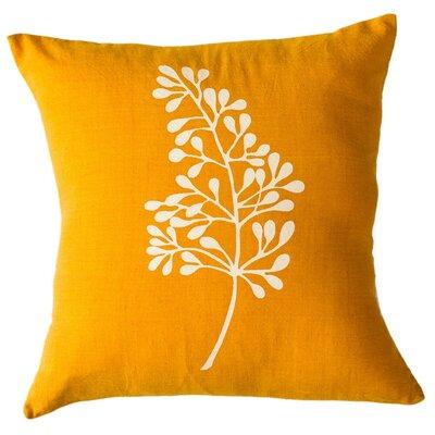Botanical Cotton Throw Pillow Size: 16 H x 16 W, Color: Turmeric