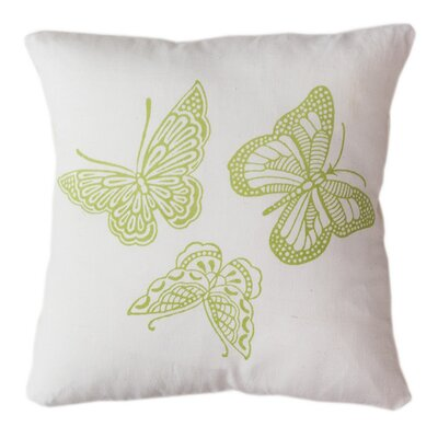 Butterflies Indoor/Outdoor Throw Pillow Size: 12 H x 12 W