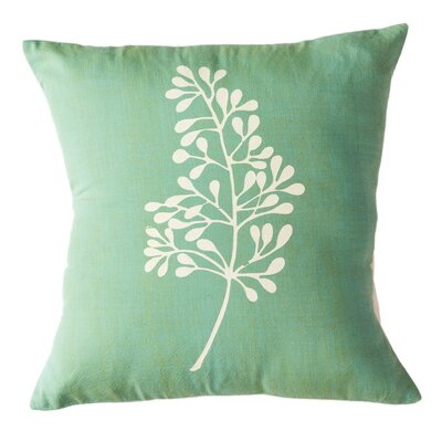 Botanical Cotton Throw Pillow Size: 12 H x 12 W, Color: Kiwi