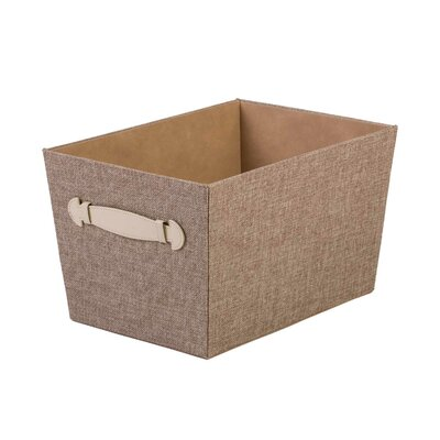 Fabric Storage Bin with Handle Color: Sand Dunes