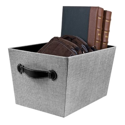 Fabric Storage Bin with Handle Color: Gray Birch