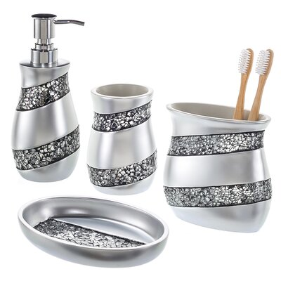4-Piece Bathroom Accessory Set OSCG-76038