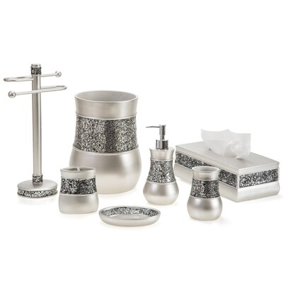 Brushed Nickel 6 Piece Bathroom Accessory Set-Brushed Nickel Soap Dish