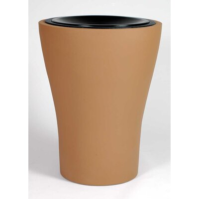 Allied Molded Products Tulip Receptacle Waste Basket - Color: Anastasia Emerald, Configuration: Trash Only
