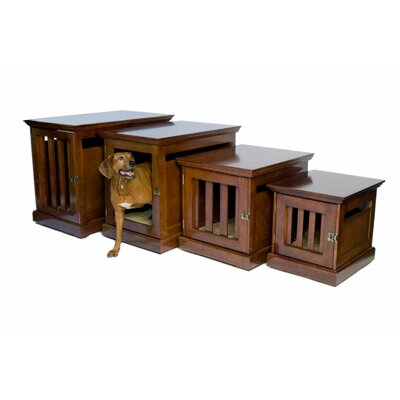 TownHaus Designer Pet Crate Color: Mahogany, Size: Small