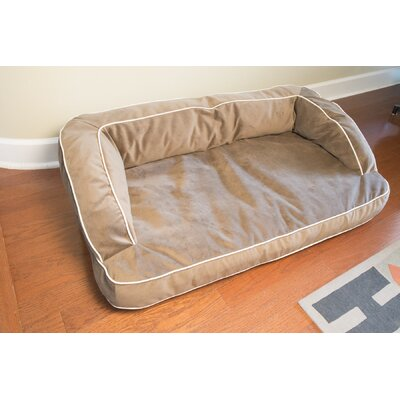 Neddy Napper Bolster Dog Bed Size: 48 L x 28 W, Color: Chocolate
