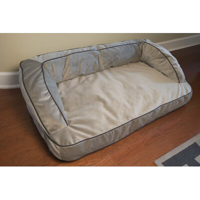 Neddy Napper Bolster Dog Bed Size: 48 L x 28 W, Color: Gray