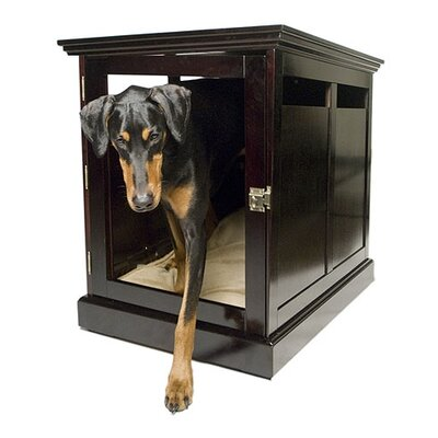 TownHaus Designer Pet Crate Color: Espresso, Size: Extra-Large