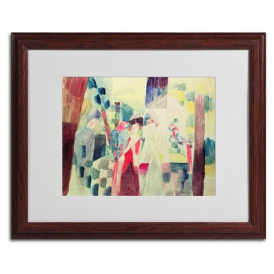 "Two Women and a Man With Parrots"" by August Macke Framed Painting Print BL01247-W1620MF"