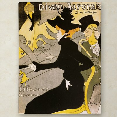 """Divan Japonais"""" by Henri de Toulouse-Lautrec Painting Print on Wrapped Canvas Size: 19"""" H x 14"""" W x 2"""" D BL01394-C1419GG"""