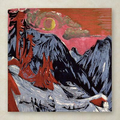 "Mountains In Winter By Ernst Kirchner Painting Print On Wrapped Canvas Size: 18"" H X 18"" W X 2"" D"