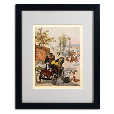 'Circus Star Kidnapped' Matted Framed Vintage Advertisement Frame Color: Black, Size: 20