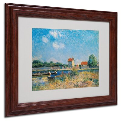 'The Loing Canal' by Alfred Sisley Matted Framed Painting Print Size: 11