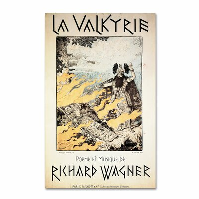 "Poster of the Valkyrie"" by Richard Wagner Vintage Advertisement on Wrapped Canvas BL01353-C1219GG"