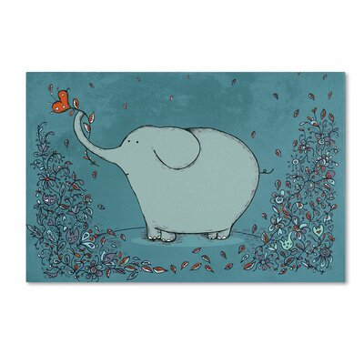 """Garden Elephant"""" by Carla Martell Painting Print on Wrapped Canvas ALI0517-C1219GG"""