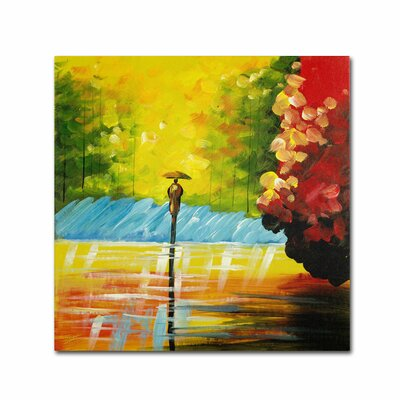 "Rainy Day"" by Ricardo Tapia Painting Print on Wrapped Canvas MA0551-C2424GG"