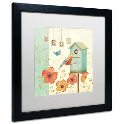 'Welcome Home IV' by Daphne Brissonnet Framed Graphic Art WAP0035-B1616MF