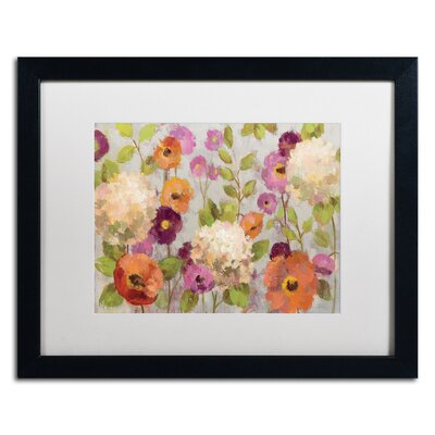 'Hydrangeas and Anemones' by Silvia Vassileva Framed Painting Print Matte Color: White, Size: 16