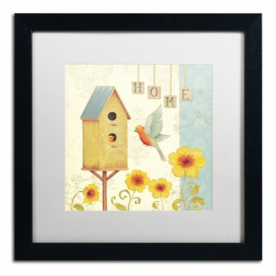 'Welcome Home I' by Daphne Brissonnet Framed Painting Print WAP0032-B1616MF
