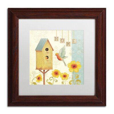 'Welcome Home I' by Daphne Brissonnet Framed Painting Print WAP0032-W1111MF