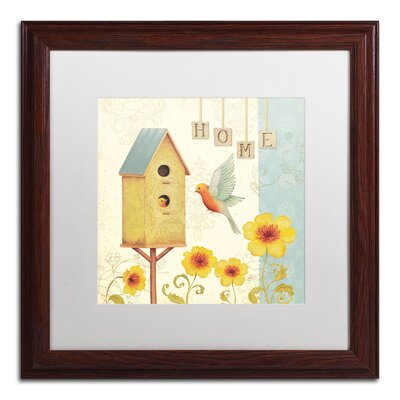 'Welcome Home I' by Daphne Brissonnet Framed Painting Print WAP0032-W1616MF