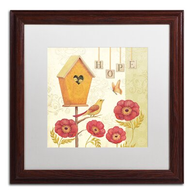 'Welcome Home III' by Daphne Brissonnet Framed Graphic Art WAP0034-W1616MF