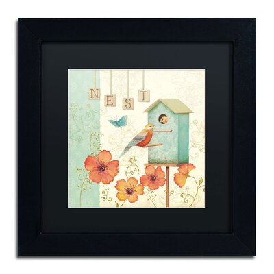 'Welcome Home IV' by Daphne Brissonnet Framed Graphic Art WAP0035-B1111BMF