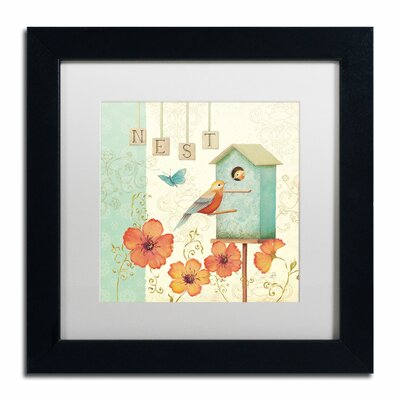 'Welcome Home IV' by Daphne Brissonnet Framed Graphic Art WAP0035-B1111MF