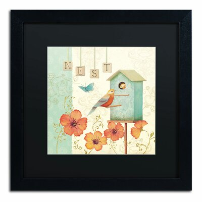 'Welcome Home IV' by Daphne Brissonnet Framed Graphic Art WAP0035-B1616BMF
