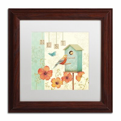'Welcome Home IV' by Daphne Brissonnet Framed Graphic Art WAP0035-W1111MF