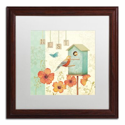 'Welcome Home IV' by Daphne Brissonnet Framed Graphic Art WAP0035-W1616MF