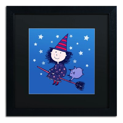 'Lovely Little Witch' by Carla Martell Framed Art ALI0526-B1616BMF