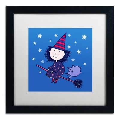 'Lovely Little Witch' by Carla Martell Framed Art ALI0526-B1616MF