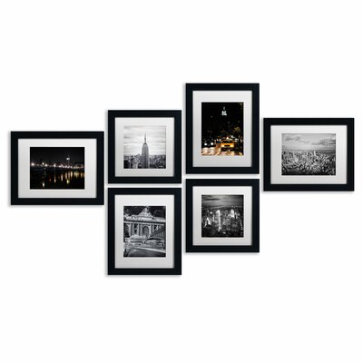 Urban Framed 6 Piece Photo Graphic Print Set on Paper