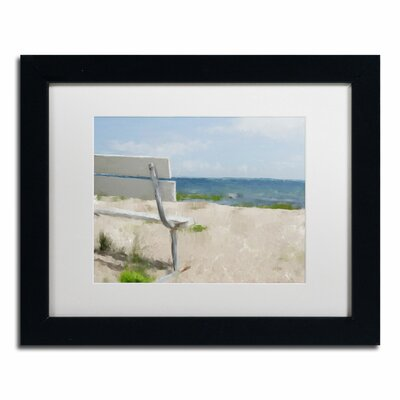 "Beach on Long Island Sound"" by Lois Bryan Framed Painting Print LBR0242-B1114MF"