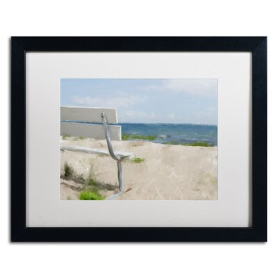 "Beach on Long Island Sound"" by Lois Bryan Framed Painting Print LBR0242-B1620MF"