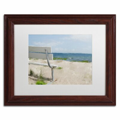 "Beach on Long Island Sound"" by Lois Bryan Framed Painting Print LBR0242-W1114MF"