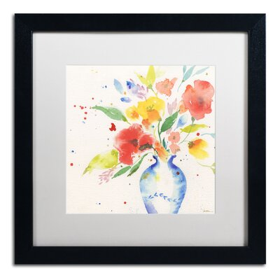 "Vibrant Bouquet"" by Sheila Golden Framed Painting Print SG5724-B1616MF"