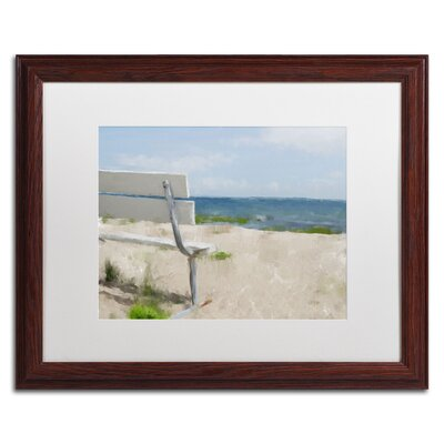 "Beach on Long Island Sound"" by Lois Bryan Framed Painting Print LBR0242-W1620MF"