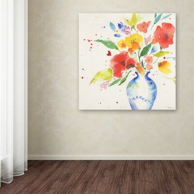 "Vibrant Bouquet"" by Sheila Golden Painting Print on Wrapped Canvas SG5724-C1818GG"