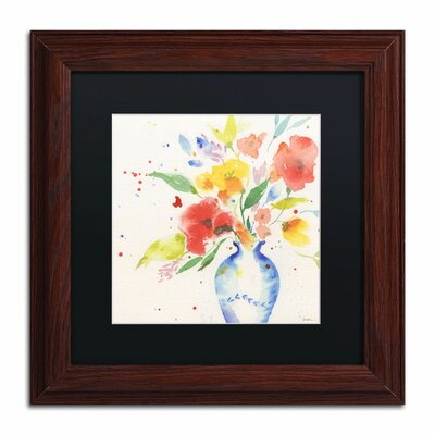 "Vibrant Bouquet"" by Sheila Golden Framed Painting Print SG5724-W1111BMF"