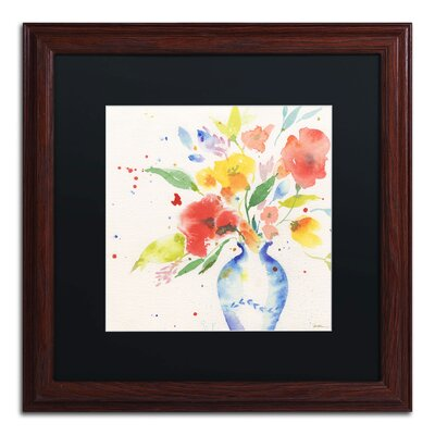 "Vibrant Bouquet"" by Sheila Golden Framed Painting Print SG5724-W1616BMF"