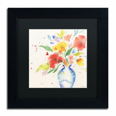 "Vibrant Bouquet"" by Sheila Golden Framed Painting Print SG5724-B1111BMF"