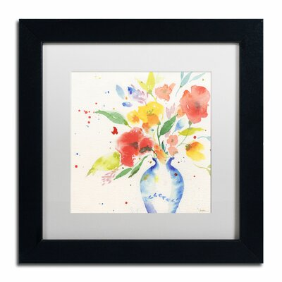 "Vibrant Bouquet"" by Sheila Golden Framed Painting Print SG5724-B1111MF"
