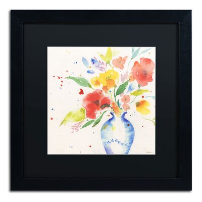 "Vibrant Bouquet"" by Sheila Golden Framed Painting Print SG5724-B1616BMF"